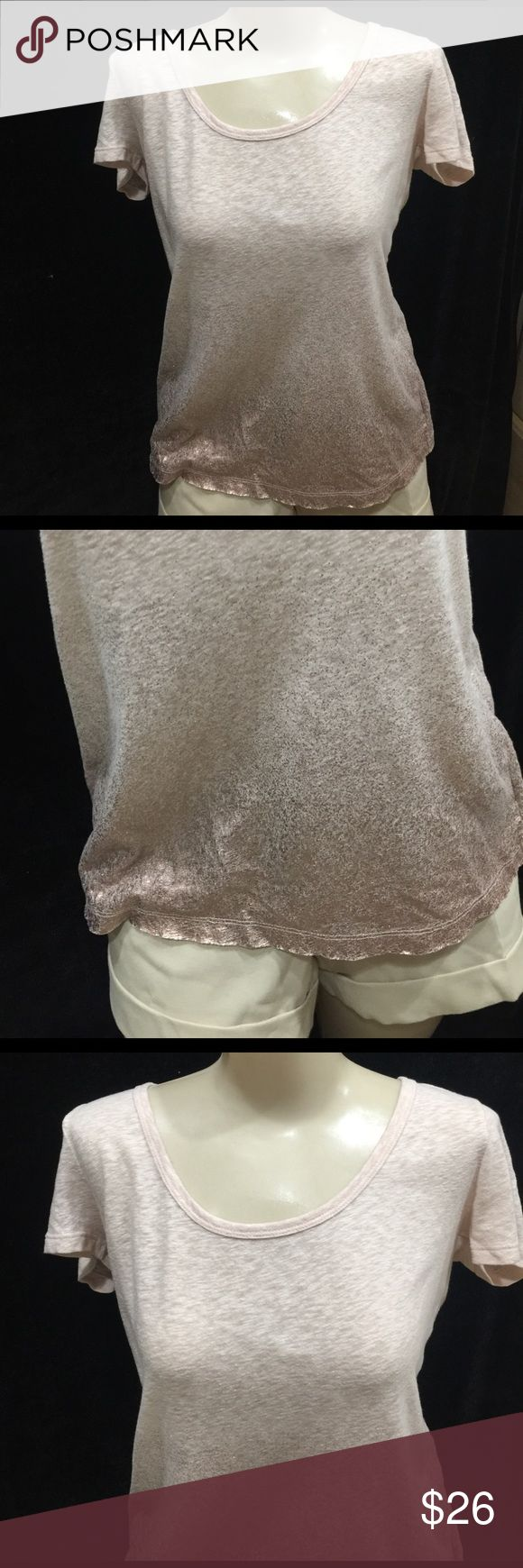 American Eagle Metallic Ombré Tshirt Sz Medium Very good condition, blush color American Eagle Outfitters Tops Tees - Short Sleeve