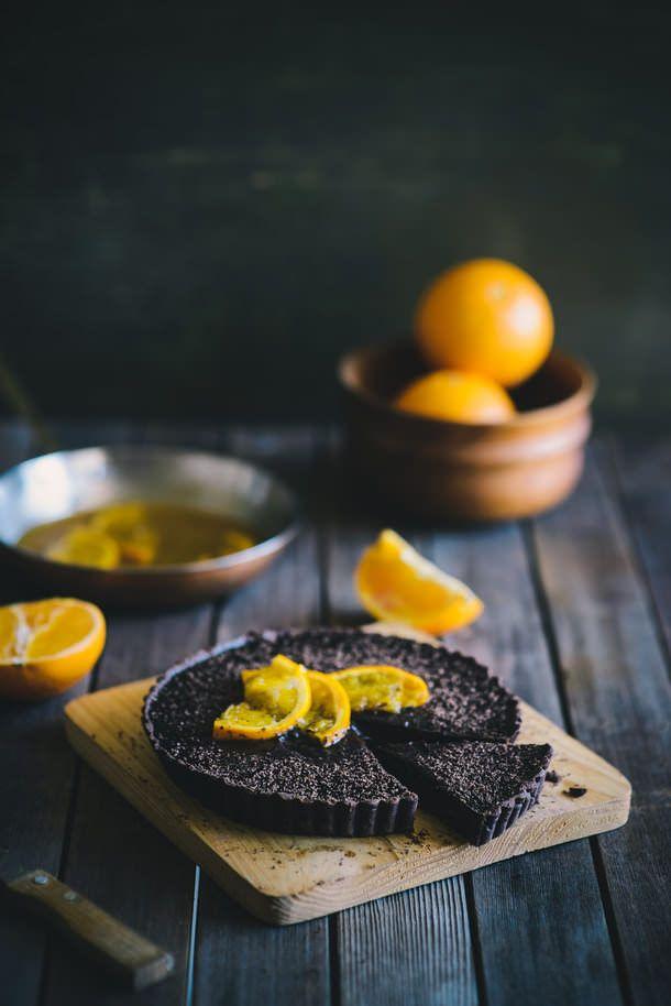 chocolate & orange tart