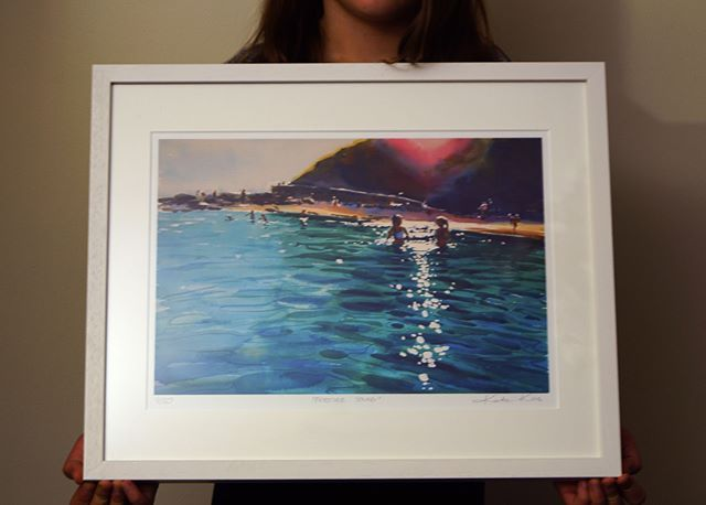 I asked my #daughter to hold few #frames for me so I can show you the size of my new prints. This one is A3 including white border, outside measurement of frame: 54x44cm/17.3x21.3in It is limited (to 50) edition on premium 310gsm Textured Fine Art Paper with a cotton felt finish, numbered, signed and titled. Now, she thought it was very hard job and her hands were sore after holding a couple. I'm giving her few days off (#ArtSource) as she started mentioning #homework and #childlabour! What…
