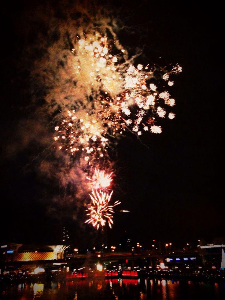 Christmas fireworks Darling Harbour Sydney
