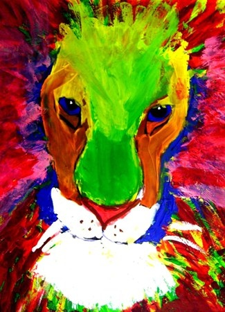 'LeRoy Neiman' inspired Lions at the Kessler school  All the kids at the Kessler School in Dallas create some many amazing pieces of art!