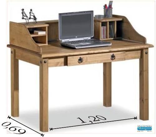 Escrivaninha;mesa De Computador;rustica;mesa De Estudo - R$ 778,00