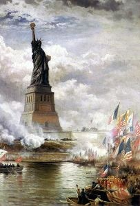 """The New Colossus"" by Emma Lazarus    Great poem about America"