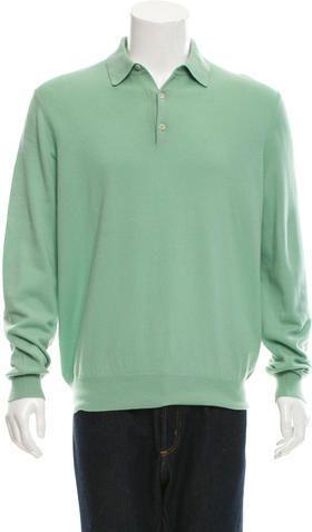Manrico Cashmere Cashmere Polo Sweater