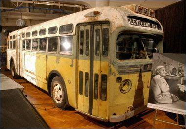 The bus on which Rosa Parks was arrested in 1955 is on display at the Henry Ford Museum & Greenfield Village, Dearborn, MI. Next to the Smithsonian Museum in Washington, D.C. The Ford Museum is not to be missed.