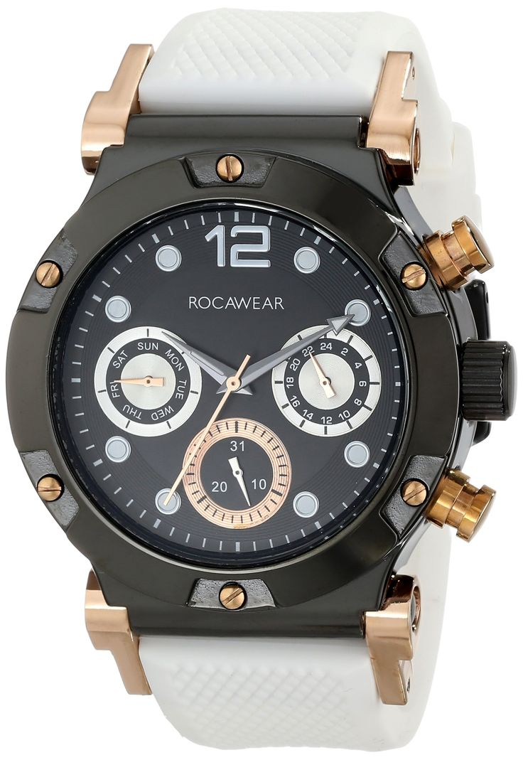 Rocawear Men's RM0213BK1-321 Analog Display Analog Quartz Black Watch