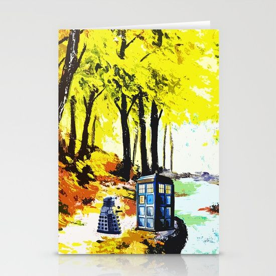Tardis Art With Dalek - $12