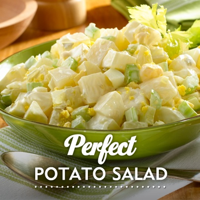 The PERFECT potato salad - perfect as a side or at a potluck :)