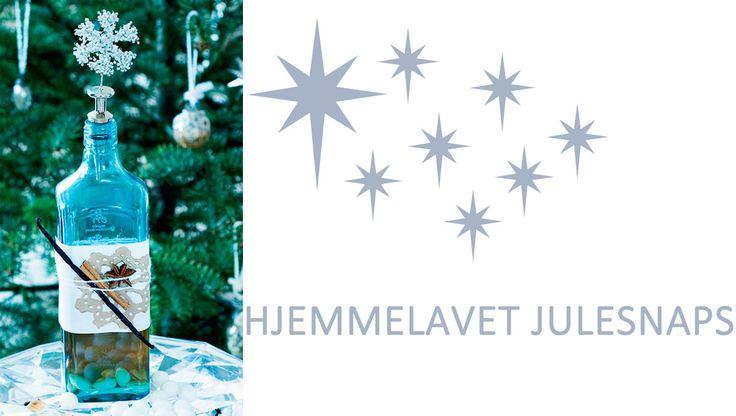 Hjemmelavet julesnaps i en dekorativ flaske er en skøn gaveidé. Bland blot nogle julekrydderier, og hæld Brøndums Snaps Klar over, og du har den dejligste julesnaps på ingen tid