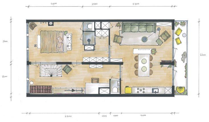 Afbeeldingsresultaat voor de bijlmer plan appartement