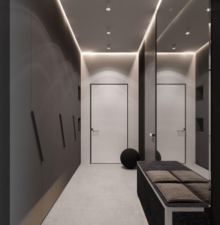 Узкий коридор в стиле хай тек фото
