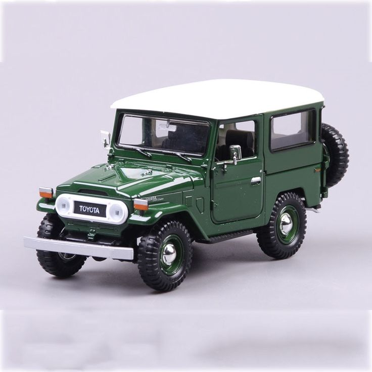 37.23$  Watch here  - 1/24 Toyota FJ40 SUV Alloy Car Model Green Truck Openable Doors Collections Children New Year Gift With Box