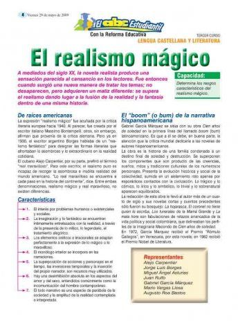 El realismo Magico. Also a good Cien Anos de Soledad review on this site