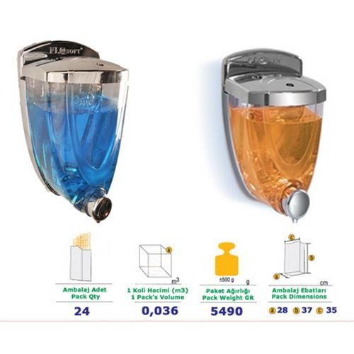 Flosoft Liquid Soap Dispenser 350 Ml Chrome