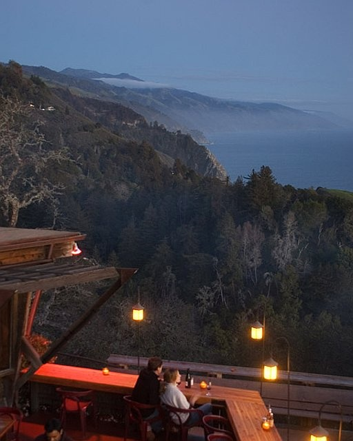 The view from the porch of the Napenthe restaurant. I don't think there is a more romantic restaurant anyplace I've been.
