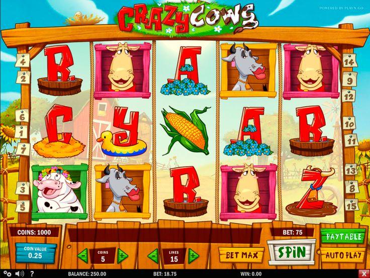 Crazy Cows van Play N Go is licht, humoristisch en vakkundig geproduceerd. Als u op zoek bent naar entertainment, zijn er een aantal high-diving koeien en een zeer ijdele stier om u te vermaken. Het spel heeft 5 rollen, 15 betaallijnen, Bonus Spel, Wild Symbool, Multiplier, Scatter Symbool en Gratis Spins.