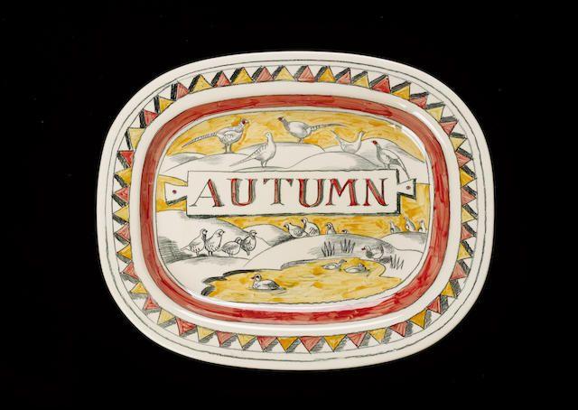Emma Bridgewater  'Autumn' platter, painted by Matthew Rice