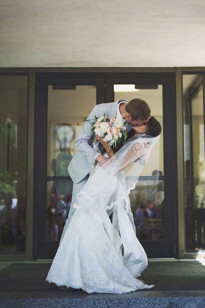 Breathtaking Wedding Kiss Photos ❤️ See more: http://www.weddingforward.com/wedding-kiss-photos/ #weddings