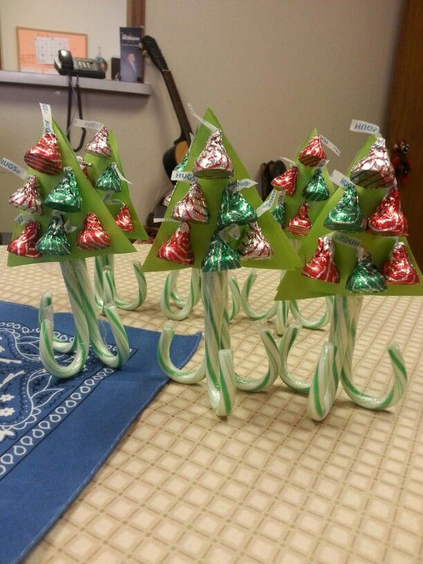Candy cane trees created by my friend Della