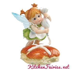 Hot Cross Buns Fairie - From Series Twenty Four of the My Little Kitchen Fairies collection