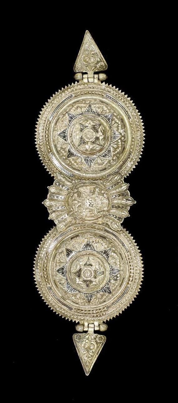 A silver and niello Belt Buckle Provincial - Ottoman, 19th Century