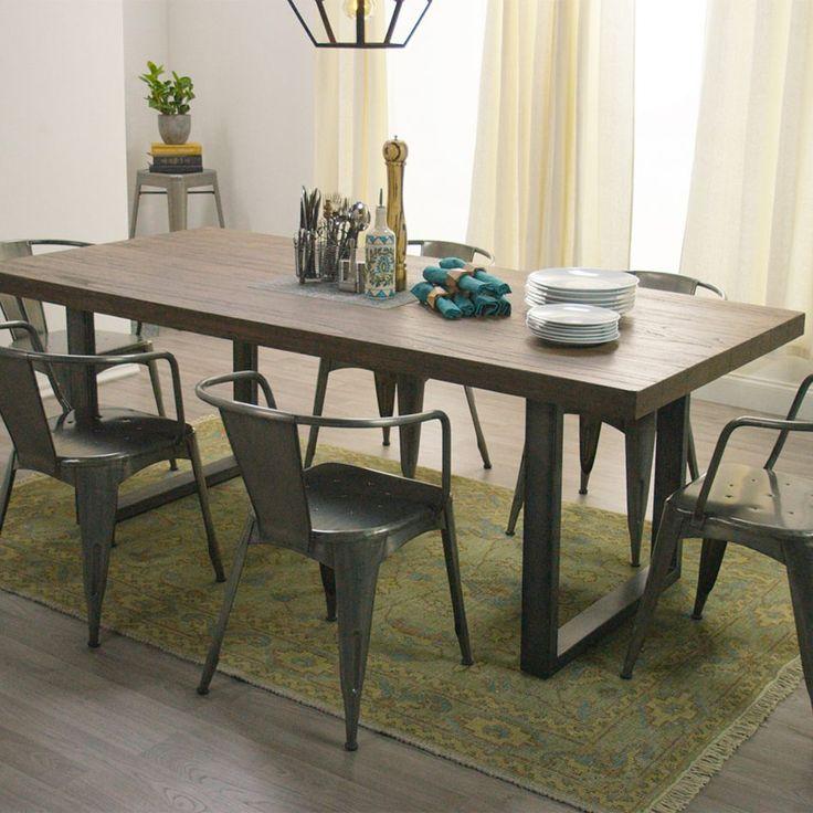 Metall Holz Ess Stühle Esszimmerstühle Esstisch
