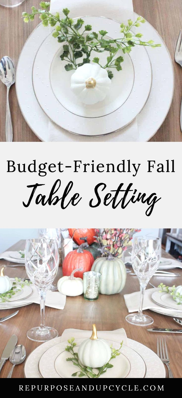 Fall Table Setting From The Target Dollar Spot Fall Table Fall Table Settings Thanksgiving Table Settings