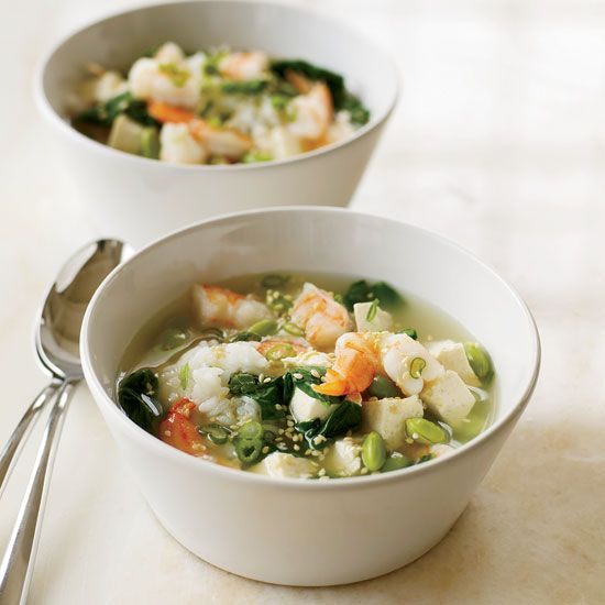 Miso Soup With Shrimp And Tofu No Soup Is Quicker To Prepare Than Miso