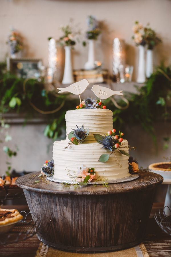 woodland cake stand, photo by Mary Margaret Smith http://ruffledblog.com/birmingham-botanical-gardens-wedding #weddingcake #cakes