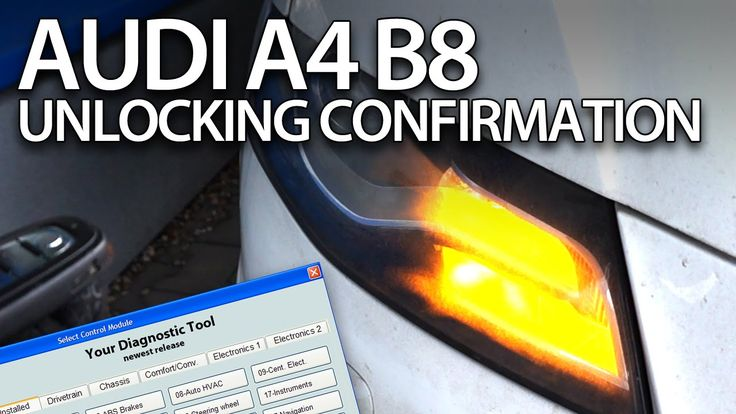 How to enable unlocking acoustic #confirmation in #Audi #A4 B8 2008-2015 #VCDS #S4 #RS4 #cars