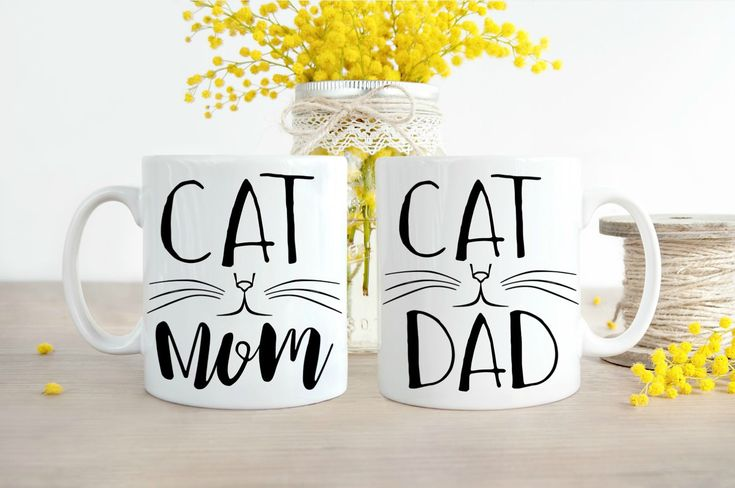 Cat Mom Dad Mugs, Cat Dad, Cat Mom, Mug Set, Cat Mom Dad, Funny Cat Owner, Cat Dad Gifts, Cat Mom Gifts, Funny Cat Mugs, Mug Sets by DesiraesKitchen on Etsy https://www.etsy.com/listing/511349165/cat-mom-dad-mugs-cat-dad-cat-mom-mug-set