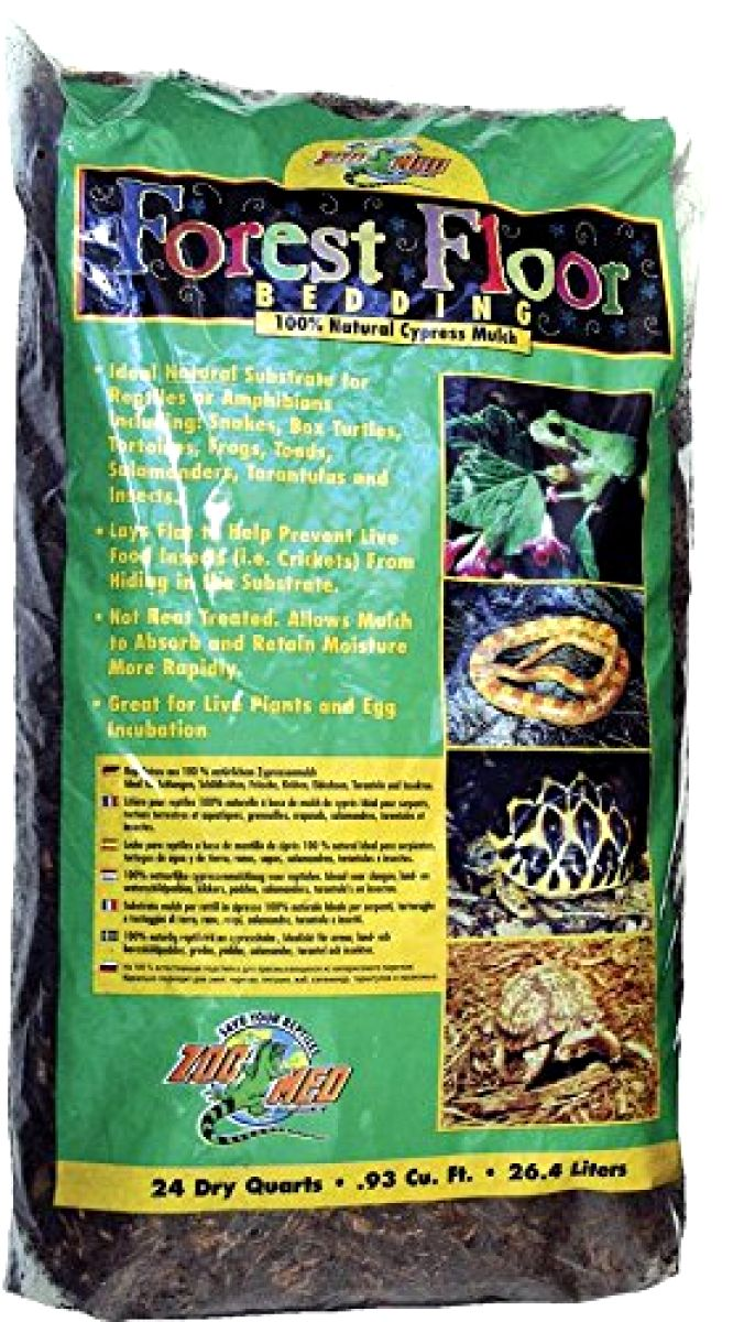 Zoo Med Forest Floor Bedding 24 Quarts Natural Cypress Mulch Pet Supply Reptile