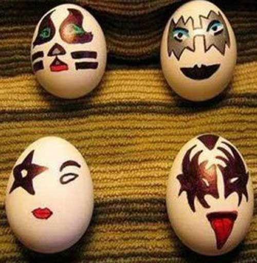 Rock Band Kiss Easter Eggs!
