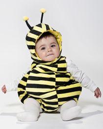 Costume di Carnevale da ape, a righe gialle e nere, con antenne, in morbido e...