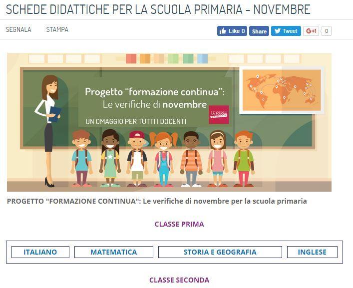 Le verifiche di novembre per la scuola primaria