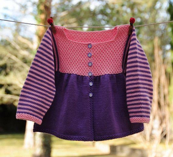 RESERVE  gilet coton 12 mois tricoté main