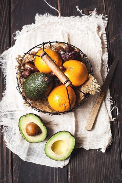 Avocado, Oranges and Dates by onegirlinthekitchen, via Flickr.