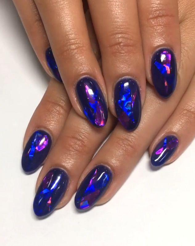 Pinterest Deborahpraha Blue Nail Art So Pretty Simple Nail Art Designs Blue Nail Art Crazy Nail Designs