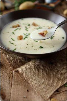 Crème de pomme de terre et panais à lail; J'ai réalisé cette recette et c'est un VRAI régale!!!!!!Tout le monde l'adore