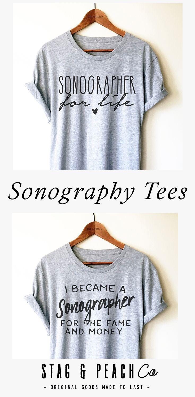 Ultrasound tech shirt sonographer for life unisex shirt