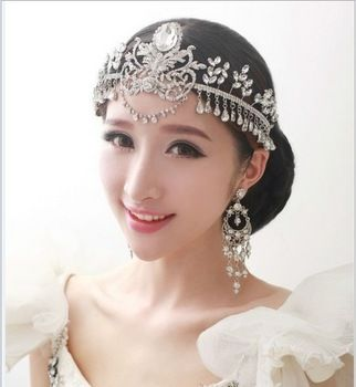 unique wedding hair jewelry hair accessories rhinestone forehead jewelry wedding crown bridal