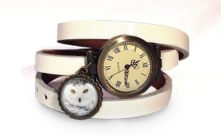 Leather watch bracelet - Hedwig, 0730WW from EgginEgg by DaWanda.com