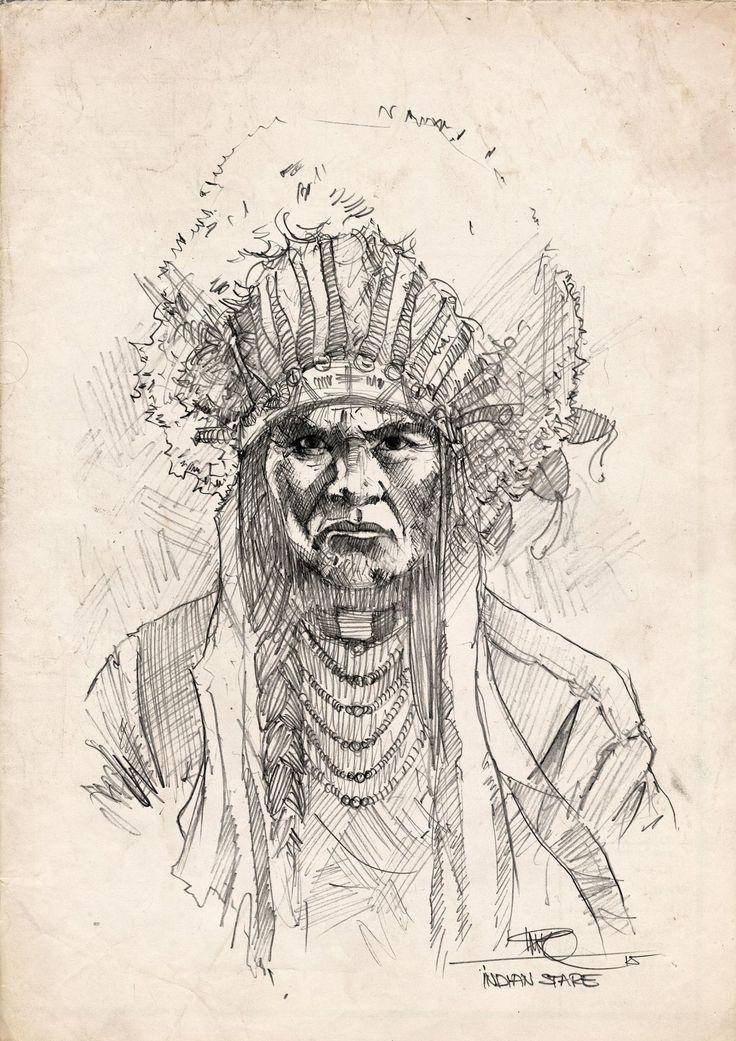 Indian stare, Marko Pudar on ArtStation at https://www.artstation.com/artwork/indian-stare