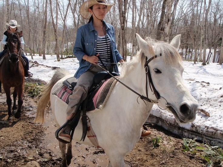 Horse back riding in Niseko, Hokkaido.