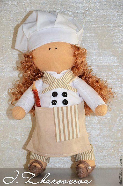 Текстильная кукла повар своими руками