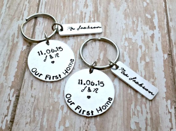 Our First Home Key Ornament Personalized by TooStampingCutebyJK
