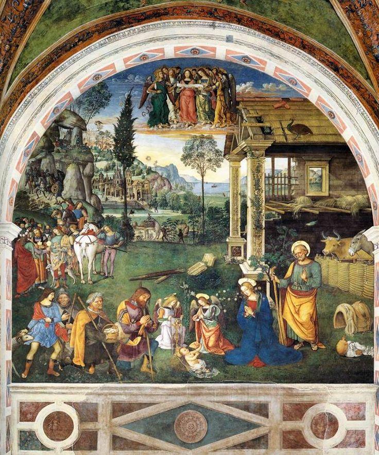 Adorazione dei pastori, opera del Pinturicchio che si trova a Spello nella Cappella Baglioni
