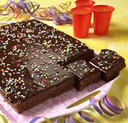 Langpannekake sjokoladekake