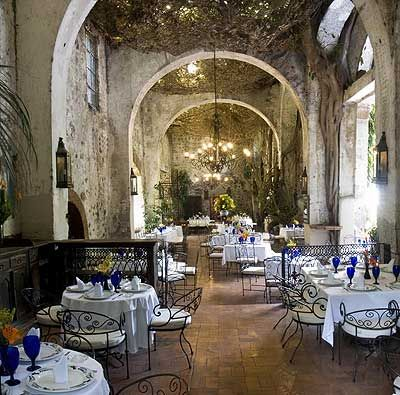 Restaurant in the Hacienda de Cortes, Cuernavaca Mexico