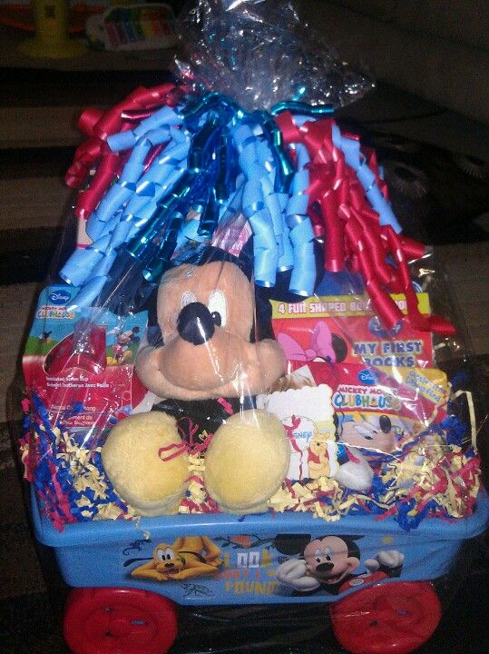 Mickey Mouse Gift Basket Handmade By Me